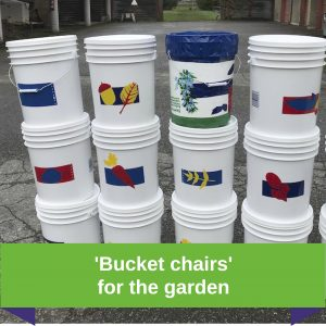 'Bucket chairs' for the garden